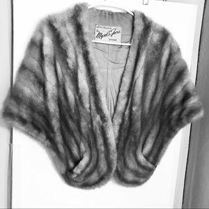 Vintage mink stole Mysels Furs Chicago Rare color